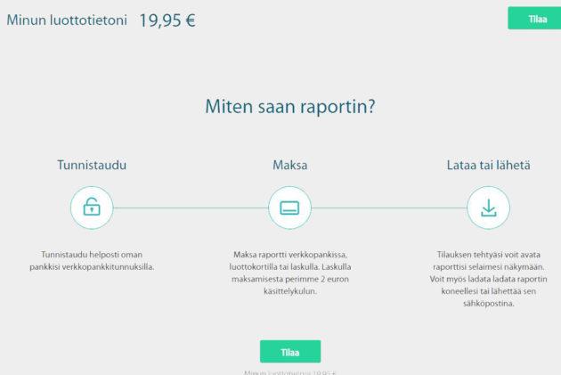 Ruutukaappaus Asiakastiedon verkkosivustolta.