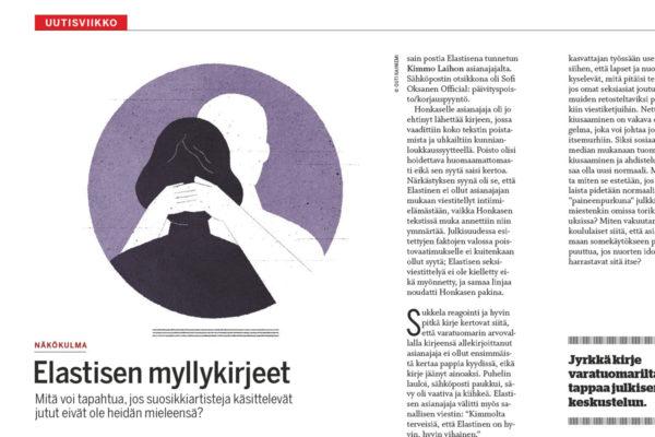 Sofi Oksasen Näkökulma julkaistiin Suomen Kuvalehden numerossa 25–26/2017.