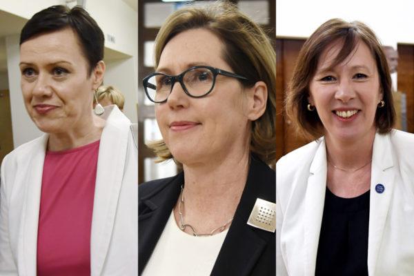 Kansanedustajat Maarit Feldt-Ranta, Tuula Haatainen ja Sirpa Paatero ovat tarjolla Sdp:n presidenttiehdokkaaksi.