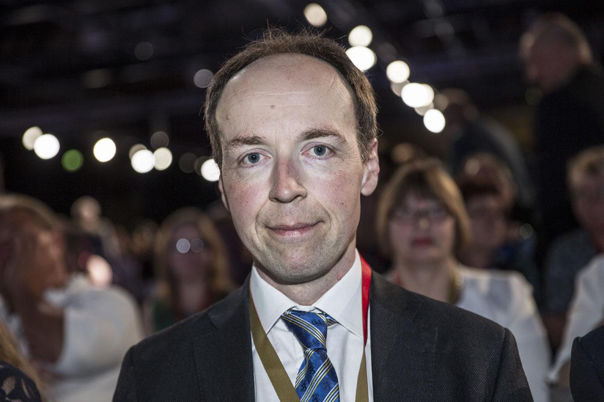 Jussi Halla-aho perussuomalaisten puoluekokouksessa Jyväskylässä 10. kesäkuuta 2017.