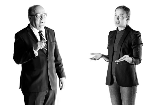 Kansanedustajat Tapani Tölli (kesk) ja Li Andersson (vas).