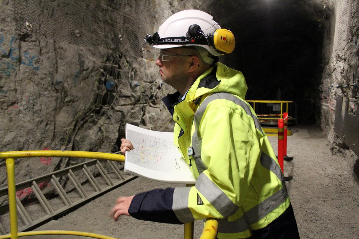 Posivan tutkimuspäällikkö Kimmo Kemppainen on käynyt Onkalossa yli 1500 kertaa.