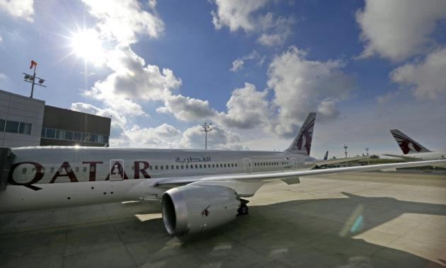 Qatar Airwaysin Boeing 787 -kone.
