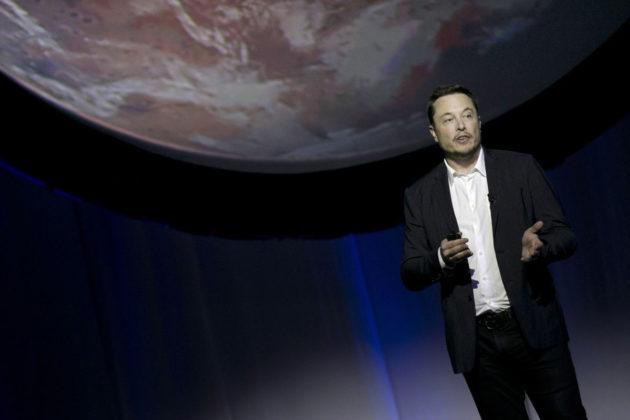 Elon Musk puhui avaruusalan kongressissa Guadalajarassa Meksikossa 27. syyskuuta 2016.