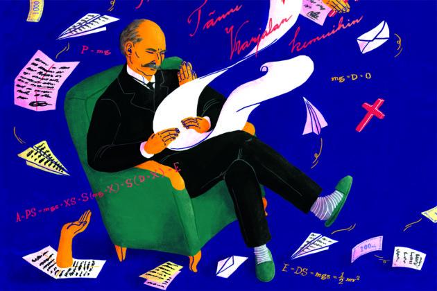 Runoja, tieteelisiä teorioita, Jumalan sanaa... K. J. Ståhlberg oli presidenttinä 1919–1925.