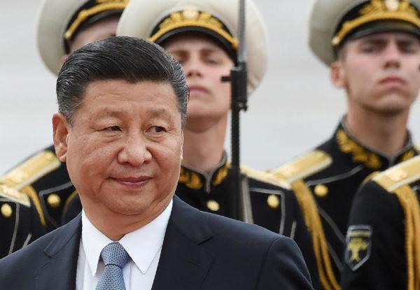 Kiinan presidentti Xi Jinping vierailulla Moskovassa 3. heinäkuuta 2017.
