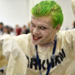 Kasper Järvelin oli pukeutunut Suicide Squad -elokuvan Jokeriksi Worldcon-tapahtumassa Helsingin Messukeskuksessa torstaina 10. elokuuta 2017.