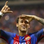 Neymar Barcelonan paidassa 27. toukokuuta 2017.