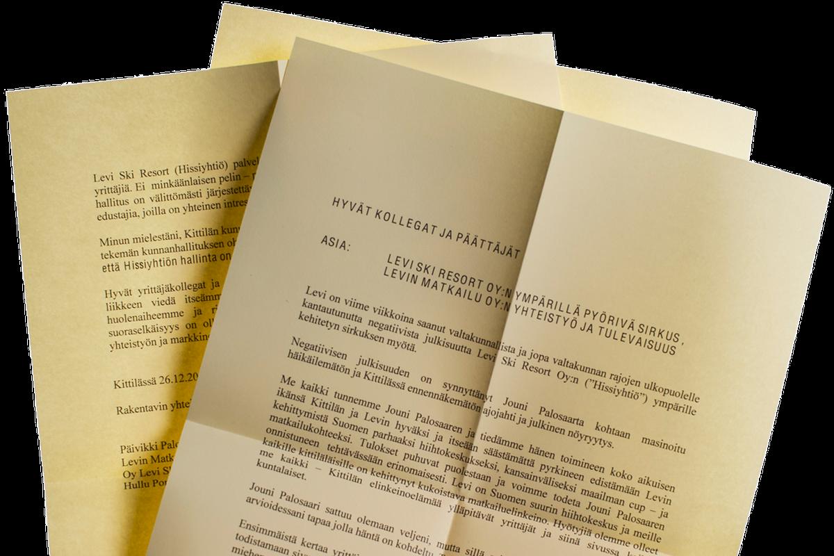 Päivikki Palosaari lähetti kirjeen Kittilän kuntapäättäjille tapaninpäivänä 2013. He ovat toteuttaneet kaikki Palosaaren kirjeessään esittämät toiveet.