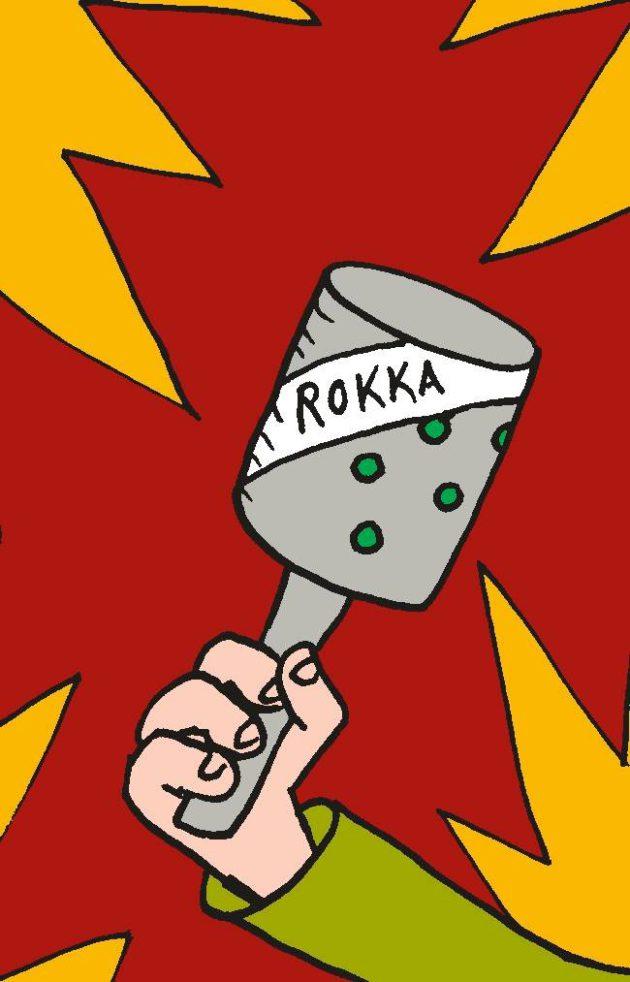 Piirroskuvitus: Rokka-niminen tikkarikranaatti.