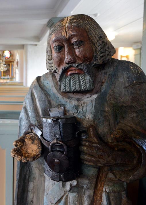 Kerimäellä on vieraillut myös Suomen vanhin, 1600-luvun lopulla tehty vaivaisukko Hauholta.