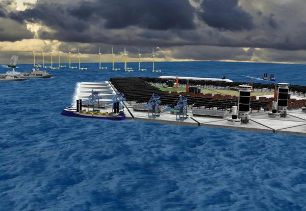 Hollantilaisen tutkimusryhmän suunnitelma kelluvasta saaresta.