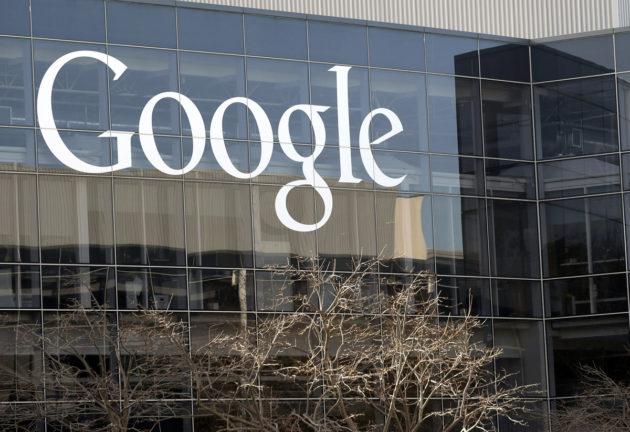 Googlen pääkonttori Kaliforniassa Yhdysvalloissa. Kuva vuodelta 2013.