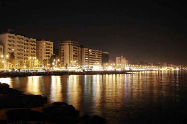 Limassolin ranta Kyproksella.