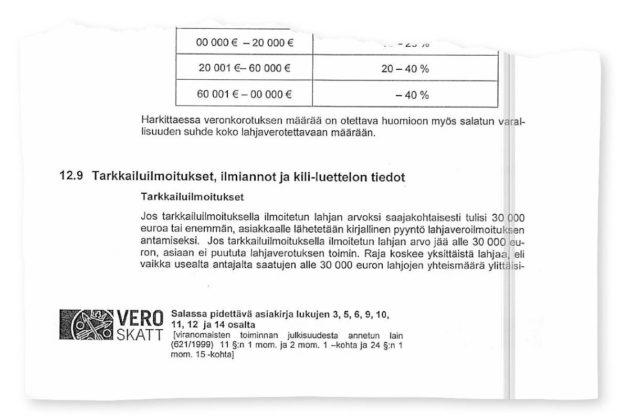 Verohallinnon työmenettelyohje on annettu marraskuussa 2013.