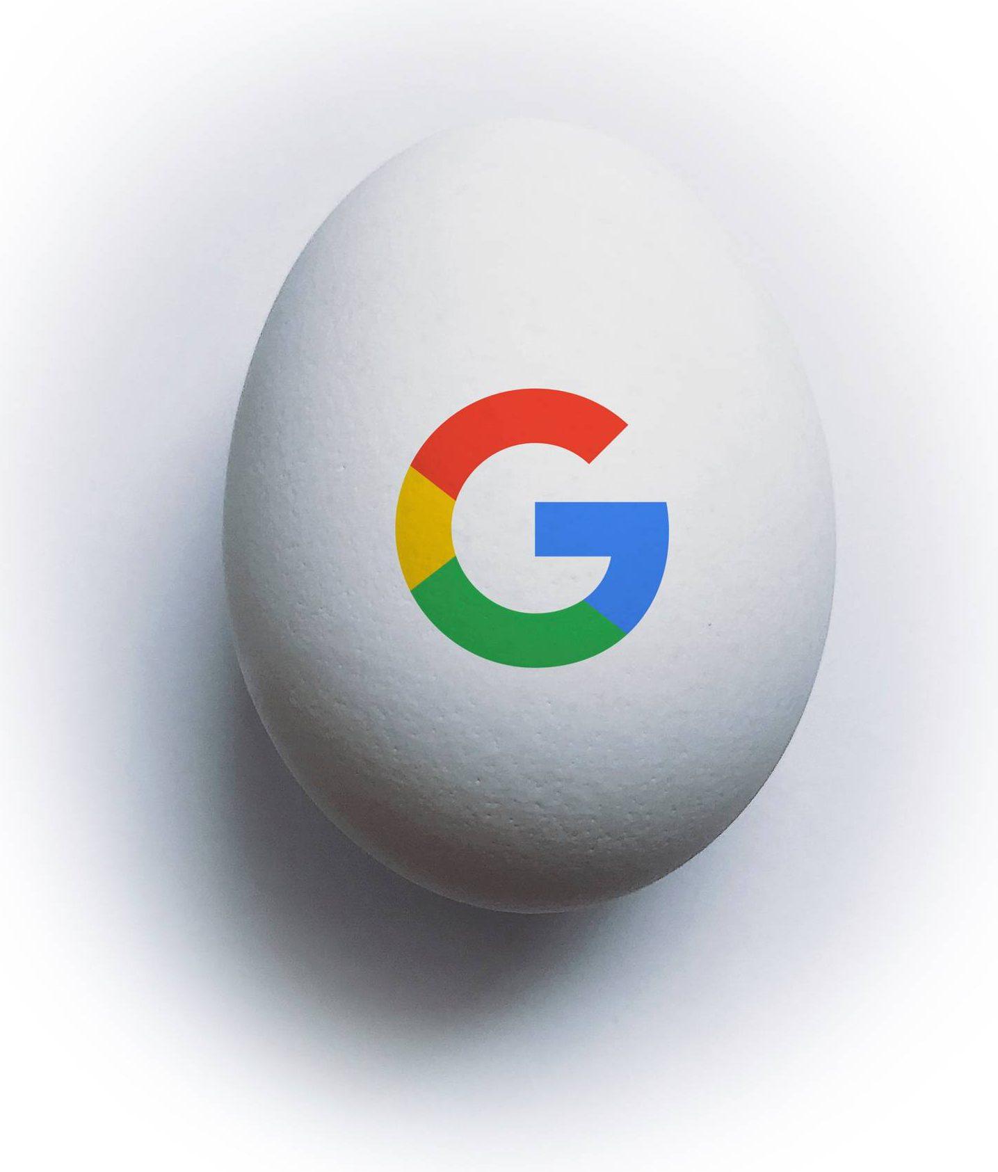 """Kuvituskuva: """"Digimunassa"""" on Googlen logo."""