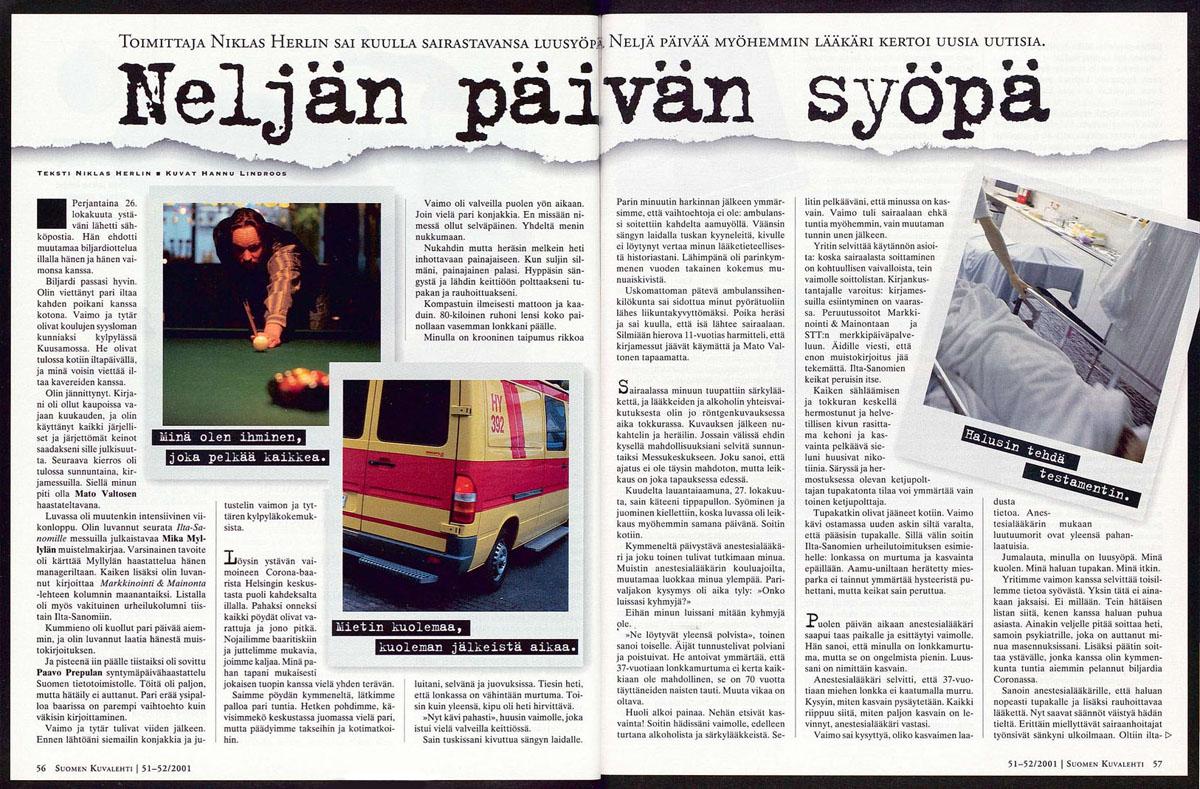 Suomen Kuvalehti 51–52 /2001.