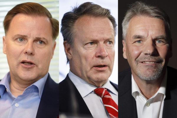Olli Sarekoski, Ilkka Kanerva ja Olli-Pekka Kallasvuo.