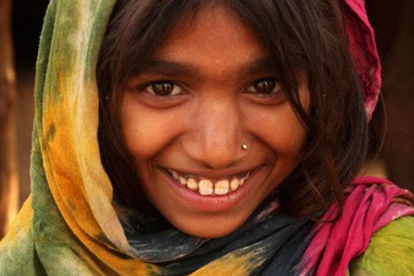 Seema Dhodhiyan kylästä Banswarasta Intiasta.