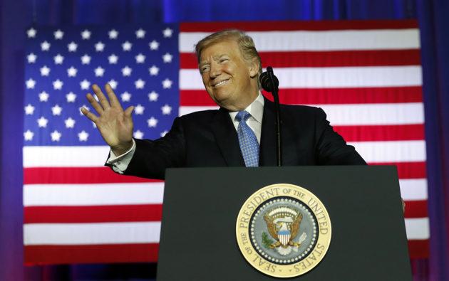 Presidentti Donald Trump esitteli verouudistustaan Indianapolisissa 27. syyskuuta 2017.