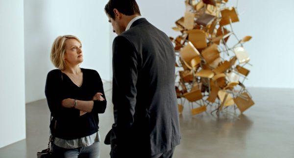 Elisabeth Moss ja Claes Bang taiteellisina.