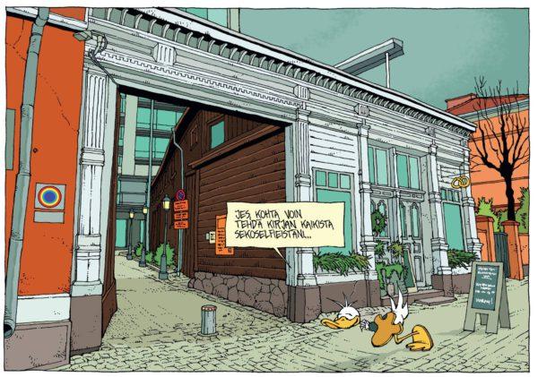 Mielipuolen kuvakirja on Turku-sarjakuvien kärkeä.