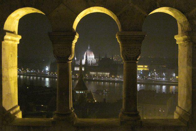 Vanhaa Budapestia Unkarissa.