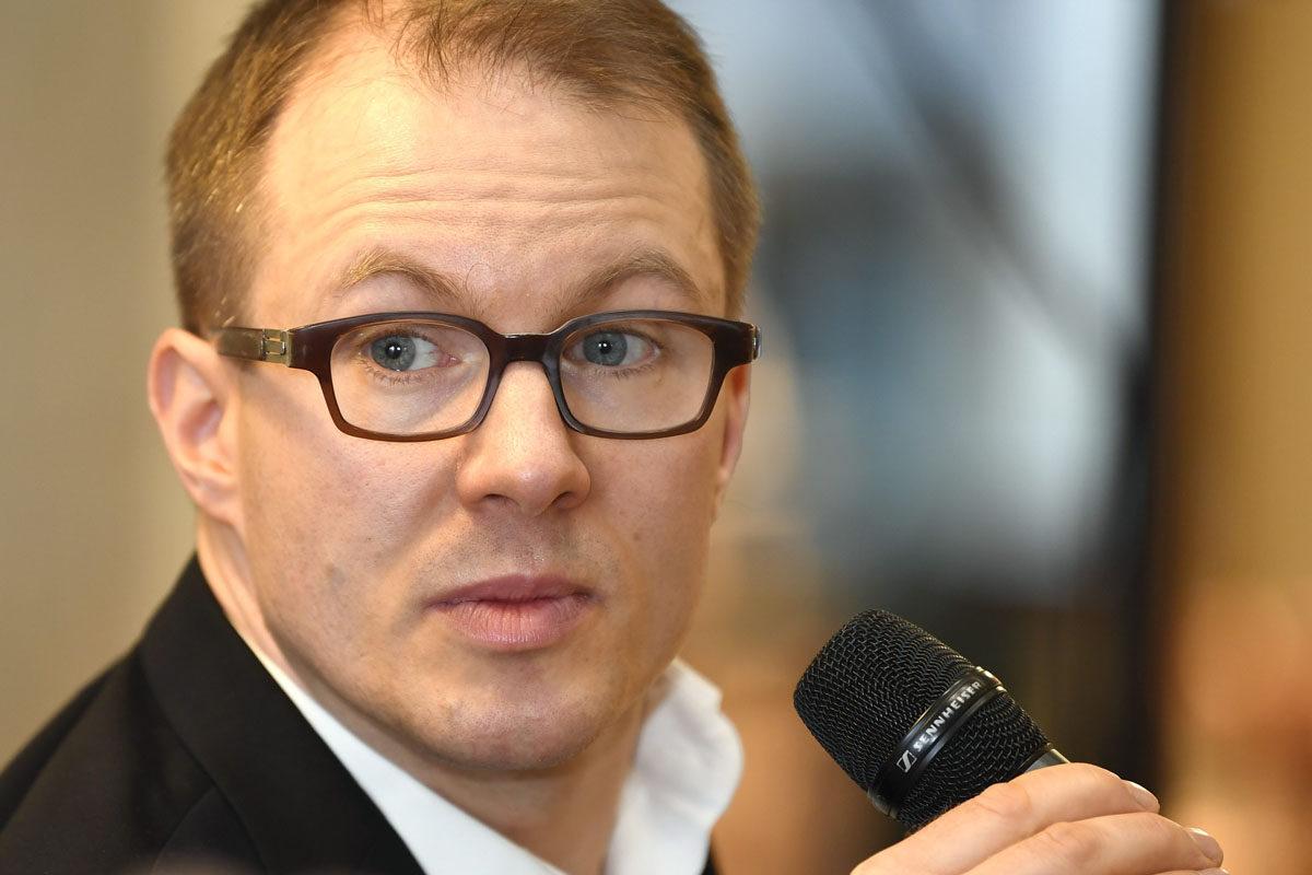 Lännen Median politiikan toimittaja Lauri Nurmi.