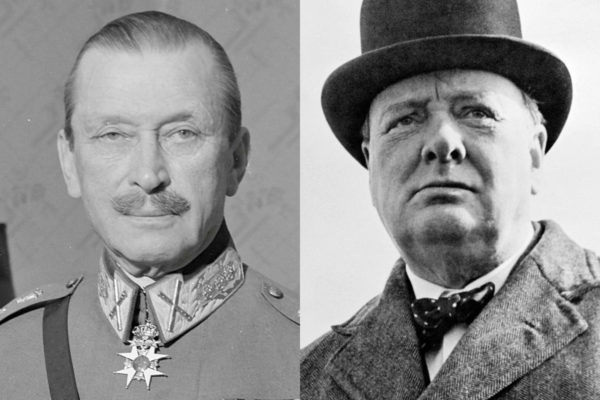 Carl Gustaf Emil Mannerheim (1867–1951) ja Winston Leonard Spencer Churchill (1874–1965).