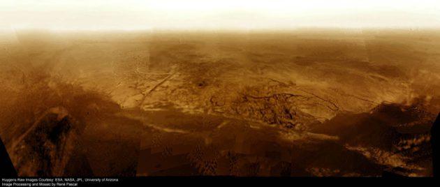Tältä näyttää Saturnuksen jättimäisessä kuussa Titanissa.