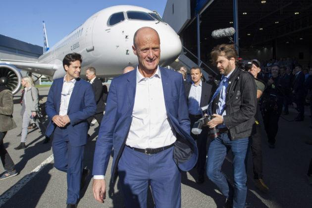 Airbusin pääjohtaja Tom Enders Kanadan Quebecissä 20. lokakuuta 2017.