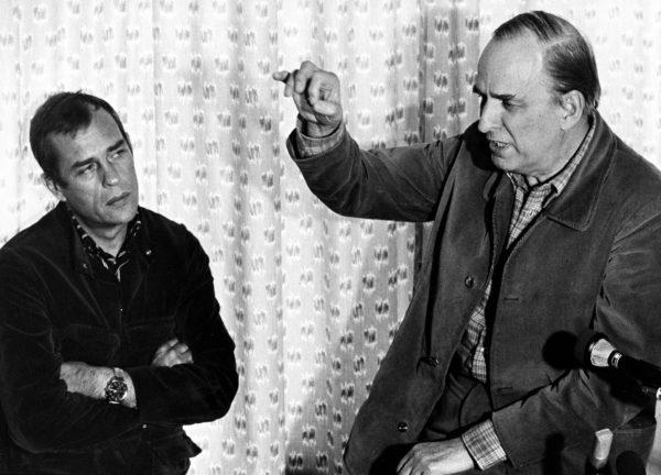 Jörn Donner ja Ingmar Bergman julkistivat Fanny & Alexander -hankkeen 1980-luvun alussa.