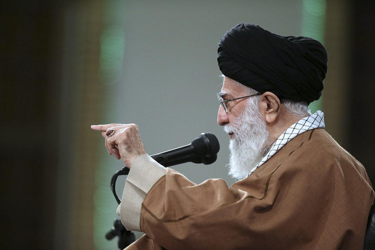 Iranin uskonnollinen ja ylin johtaja, ajatollah Ali Khamenei.
