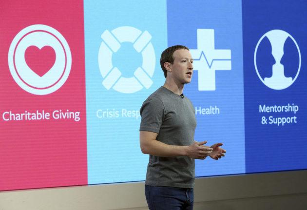 Facebookin perustaja ja toimitusjohtaja Mark Zuckerberg puhui New Yorkissa 29. marraskuuta 2017,