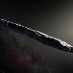 Taiteilijan näkemys 'Oumuamua-asteroidista.