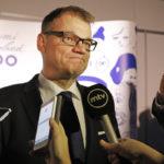 Pääministeri Juha Sipilä (kesk) Suomi 100 -juhlassa Oulussa 2. joulukuuta 2017.