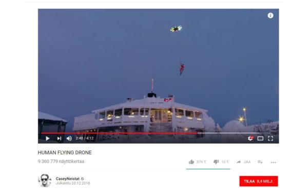 Ruutukaappaus Casey Neistatin Youtube-videolta.