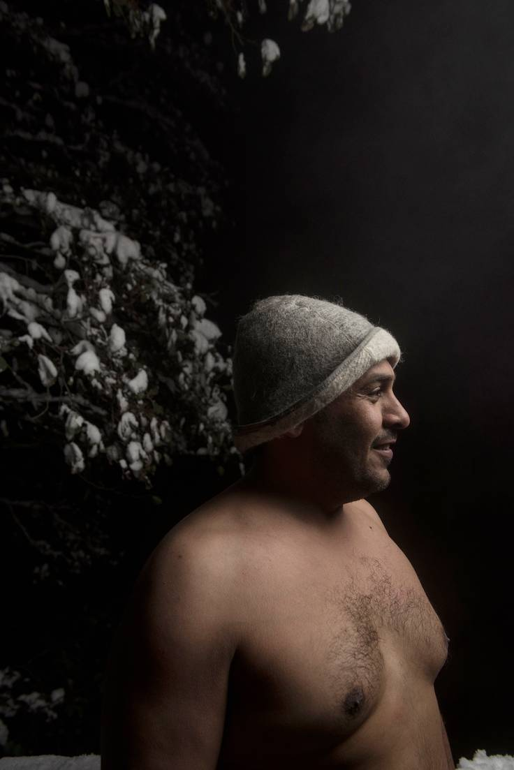 Tarkastaja Mohammad Alsharif nautti lokakuussa savusaunan löylyistä Ylöjärven Veittijärvellä.
