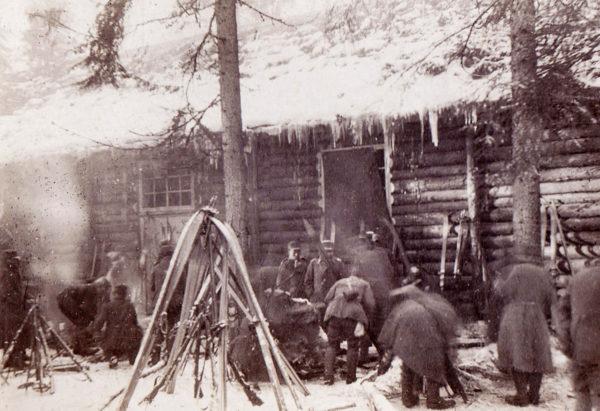 Aa-joella talvitaistelujen aikaan 1917.