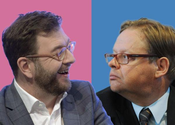 Sosiaalidemokraattien kansanedustaja Timo Harakka ja kokoomuksen Juhana Vartiainen