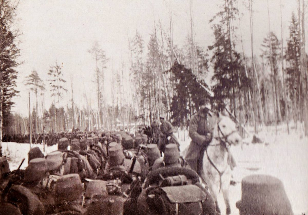 Pakkanen ja nälkä ahdistelivat Aa-joella talvella 1917.