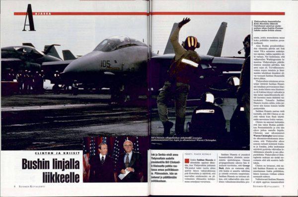 """SK 3/1993 (22.1.1993) Paavo Keisalo: """"Bushin linjalla liikkeelle"""""""