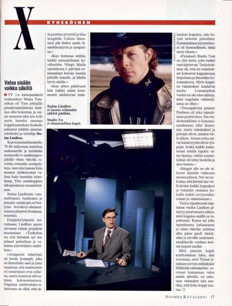 """SK 5/1993 (5.2.1993) Kari Kyheröinen: """"Valoa sisään vaikka säkillä"""""""