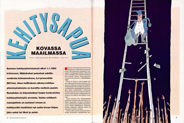 """SK 2/1993 (15.1.1993) Saska Saarikoski: """"Kehitysapua kovassa maailmassa"""""""
