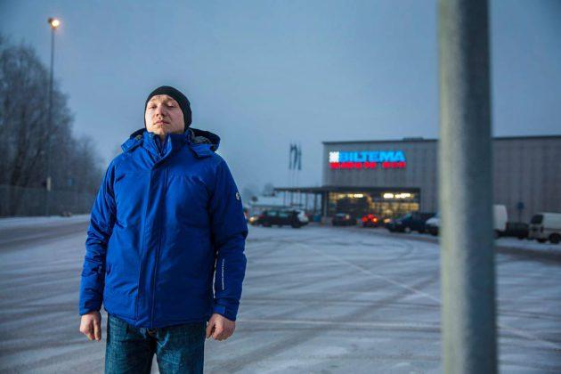 Poliisi haki Viktor Podolianchuckin helsinkiläiseltä työmaalta tammikuussa 2017.