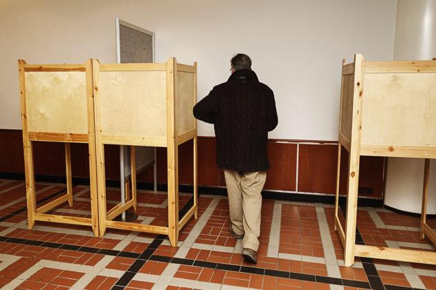Presidentinvaalien 2018 ensimmäisen kierroksen ennakkoäänestystä postin ennakkoäänestyspisteellä Helsingissä keskiviikkona 17. tammikuuta 2018.