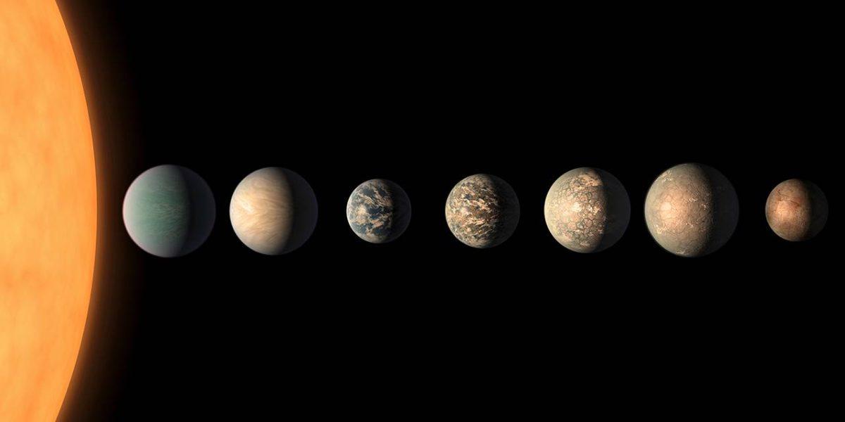 Trappist-1:n seitsemän planeettaa muistuttavat Maata.