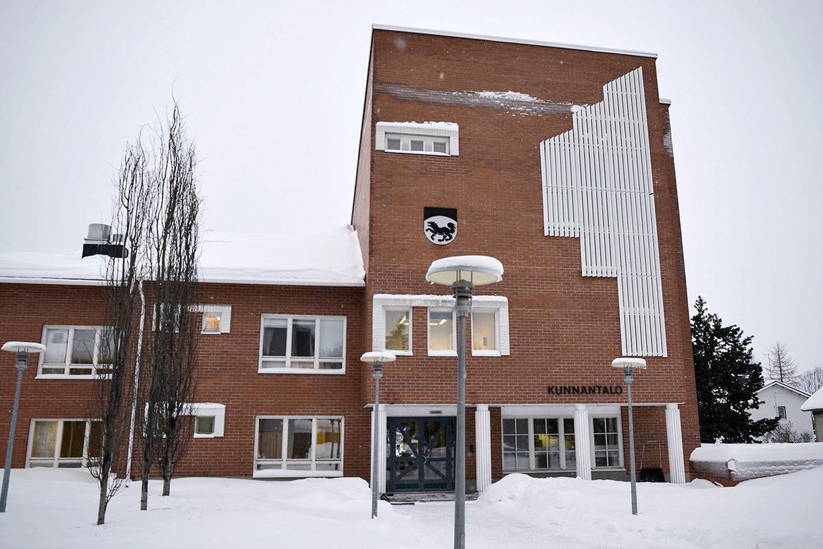 Kittilän kunnantalo 16. tammikuuta 2018.