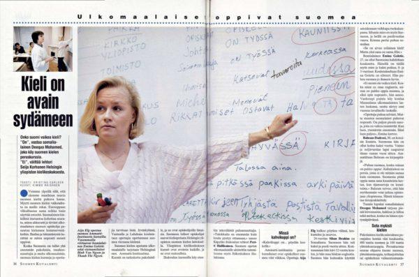 """SK 9/1993 (5.3.1993) Kristina Carlson: """"Kieli on avain sydämeen"""""""