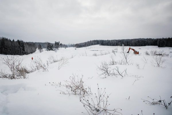 Vantaan Golfpuiston työmaa 7. helmikuuta 2018.